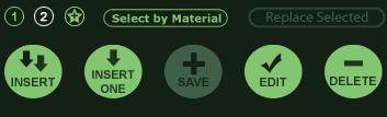 VizTerra Materials Phase Library Buttons