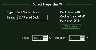 VizTerra Object Properties Panel