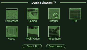 VizTerra Selecting Multiple Surfaces with Quick Selection