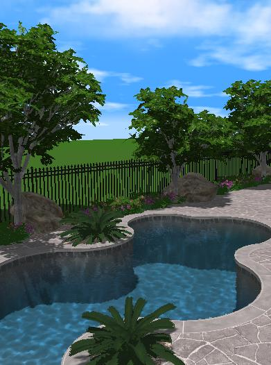 Pool Studio Landscaping Features of Plants and Trees