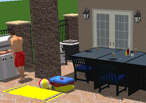 Pool Studio Landscaping Features of Yard Accessories