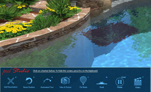 Pool Studio Presentation Mode Control System