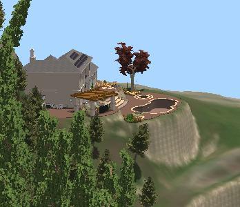 Pool Studio Property Slope Controls in 3D