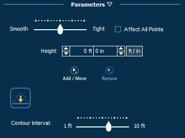 Pool Studio Property Slope Parameters Panel