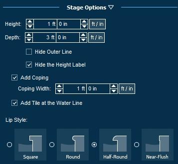 Pool Studio Spas Stage Options