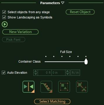 VizTerra Adjusting Landscaping Items