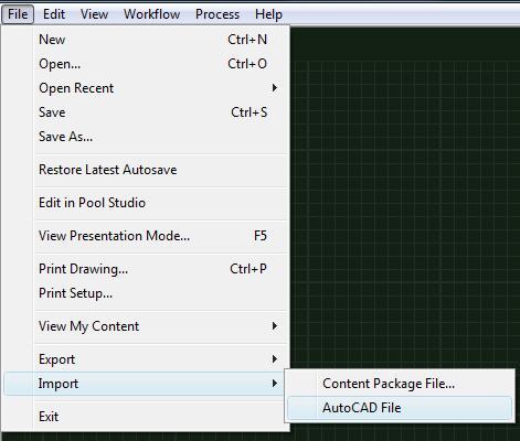 VizTerra AutoCAD File Menu