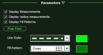 VizTerra Parameters Line Style Fill Pattern