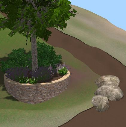 VizTerra Planter Stage 3D View Designing Planter Beds