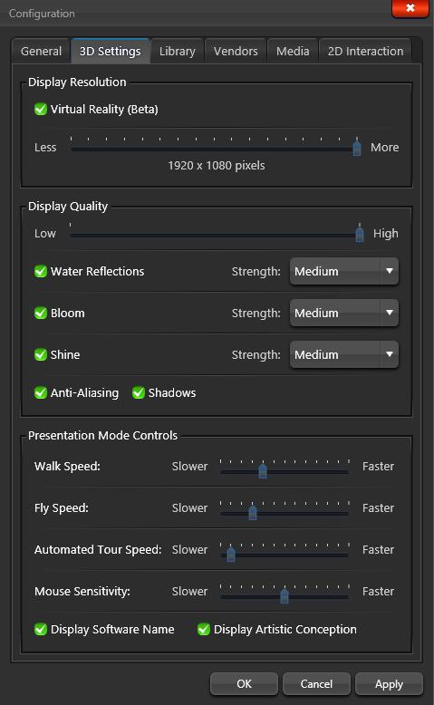 Configuration - 3D Tab