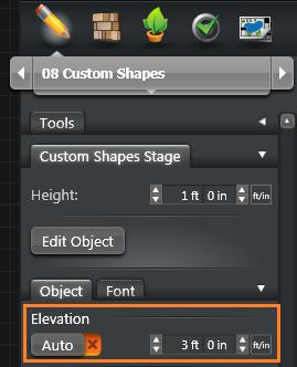 Custom Shapes Elevation