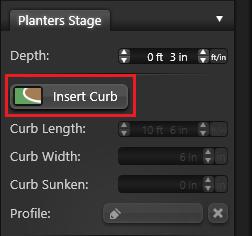 Planter Insert Curb