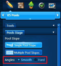 Pool Slope - Single Angles