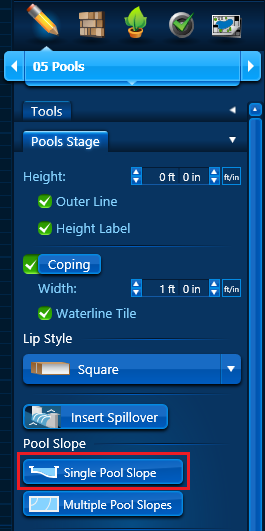 Pool Slope - Single