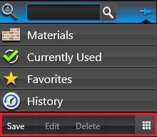 VIP Materials Save Edit Delete
