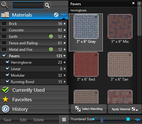 VIP Materials Tab