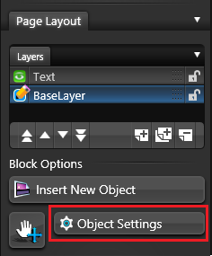 Object Tab Object Settings