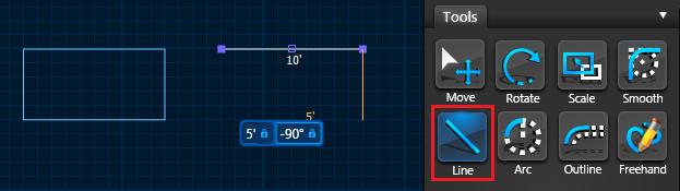 Type In Measurements - Line