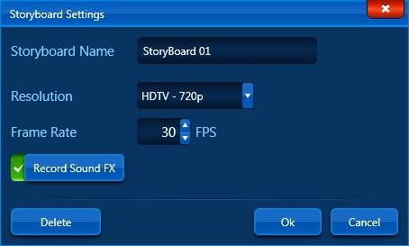 VIP Video Mode Storyboard Settings