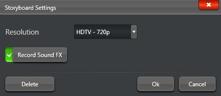VT Video Mode Storyboard Settings