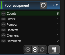 Calculation Details Pool Equipment